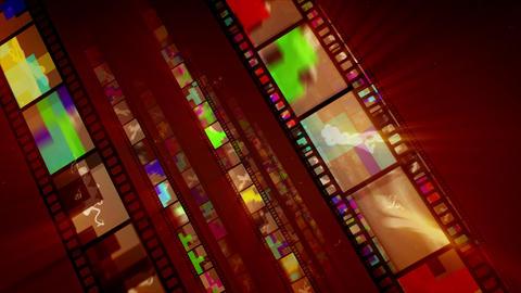 Shining Diagonal Film Tape Advancement Animation