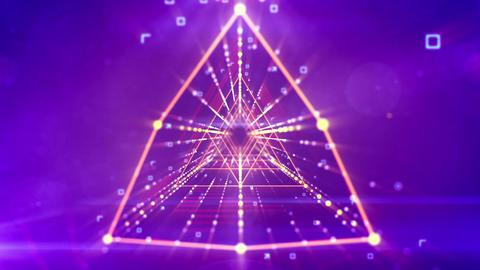 Virtual rhombus neon tunnel flying Animation