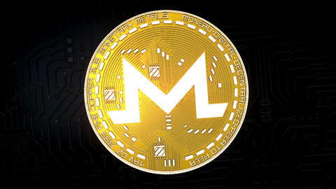 Coin of MONERO cryptocurrency Animation