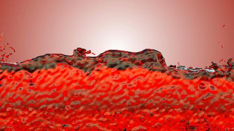 Red ink, Blood splashes, Red liquid Splashing Stock Video Footage