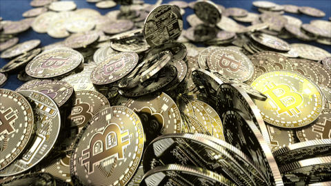 Falling coins resource bitcoins cryptocurrency Animation