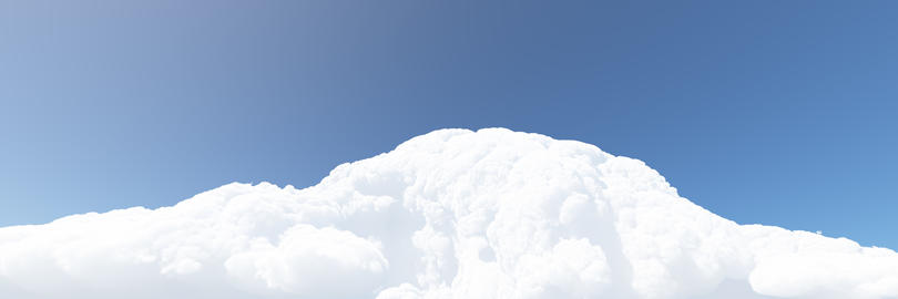 White clouds and blue sky. 3D render Fotografía