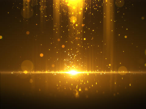 Golden bokeh glamour abstract background フォト