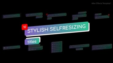 Stylish Selfresizing Titles After Effects Template