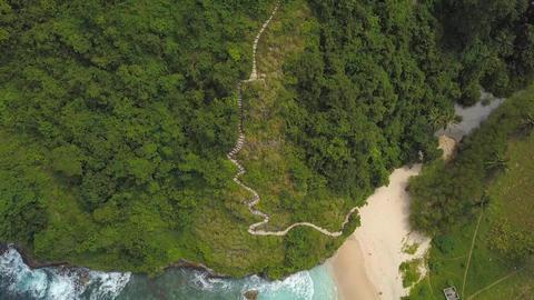 Amazing Paradise Atuh Beach in Nusa Penida, Indonesia. 4K Aerial Footage