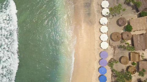 Aerial: Beautiful Atuh Beach at Paradise Tropical Island Nusa Penida, Indonesia Footage