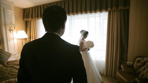 Wedding Couple Meeting Footage