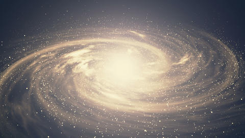 A beautiful space scene with a rotating galaxy Footage