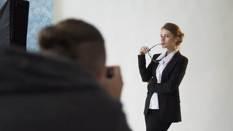 Shooting of Confident Businesswoman Footage