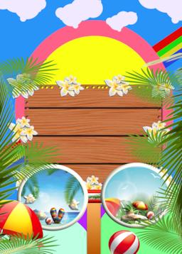 SUMMER BEACH PARTY BACKGROUND フォト