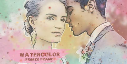 Watercolor Freeze Frame After Effects Template