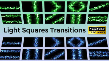 Light Squares Transitions After Effects Template