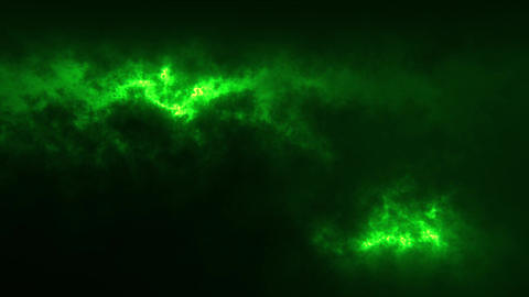 Green Sci-Fi Sky Clouds Loopable Motion Graphic Background GIF