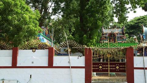 Panning shot - Hindu Temple Exterior Footage