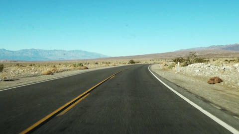 Driving - Driving shot with camera on a road in USA Time-lapse POV - point of Live Action