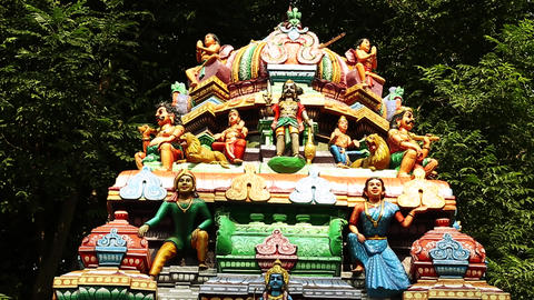 Exterior Hindu temple India, Nature Background Footage