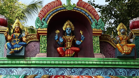 Exterior Traditional Hindu temple India Footage