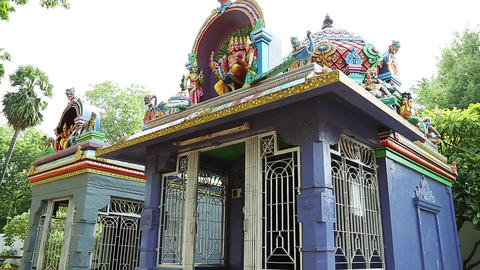 Exterior Traditional Hindu temple, South India (4) Footage