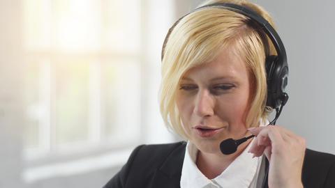 Close Up Call Center Operator Footage