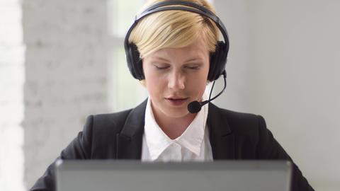 Helpline Consultant in Work Footage