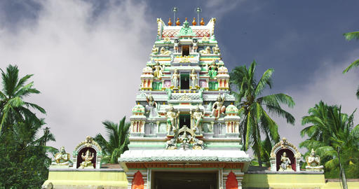 Time lapse. Hindu temple exterior, Cloud passing Footage