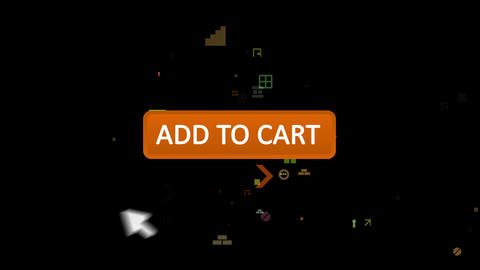 Add to cart button pressed with arrow Animation