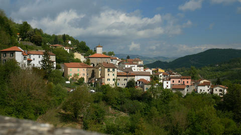 Panoramic view of Pavana, Italy Live Action