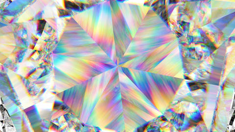 sparkling gemstone macro rotating seamless loop. kaleidoscope Animation