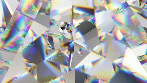 sparkling gemstone macro rotating seamless loop. kaleidoscope Animation