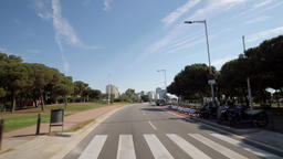 Driving through the streets of Barcelona Spain Archivo