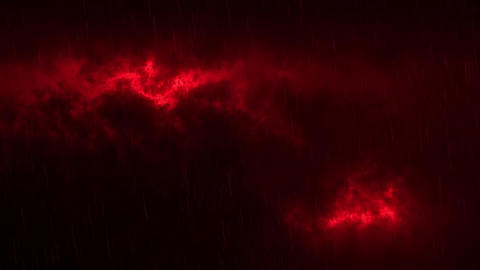Red Sci-Fi Sky Clouds with Falling Rain Loopable Background Animation