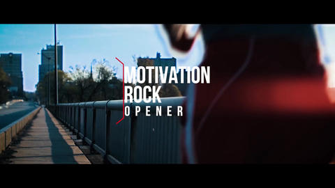 Motivation Rock Opener Premiere Pro Template