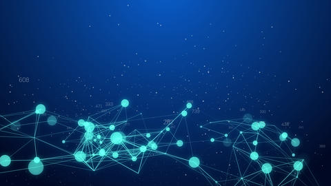 Abstract Network connection concept creative motion graphic background with CG動画素材