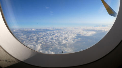 seen from the porthole of an airliner that started from Valencia to Rome Footage