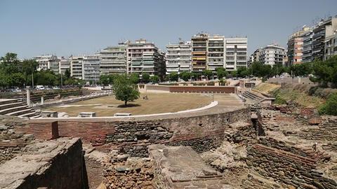 Roman Forum of Thessaloniki - ancient Roman-era forum of the city, Agora Footage