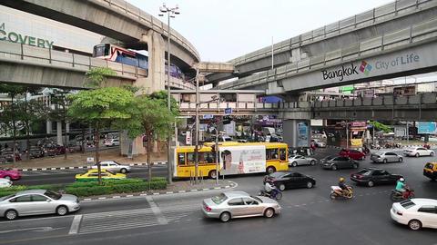 Road traffic in Bangkok, Thailand Footage