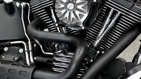 Harley Davidson at automotive-show Footage
