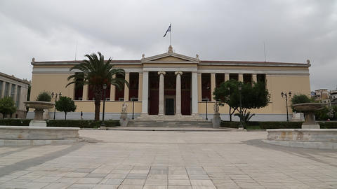 National University of Athens in Greece Footage