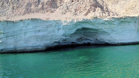 Sultanate of Oman, Musandam peninsula, Gulf of Oman, rocky coast Footage