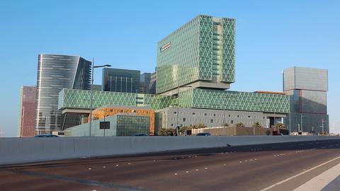 Cleveland clinic in Abu Dhabi, Al Maryah island, United Arab Emirates Footage
