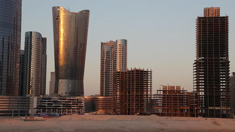 City of Lights complex at Al Reem island in Abu Dhabi, United Arab Emirates Footage