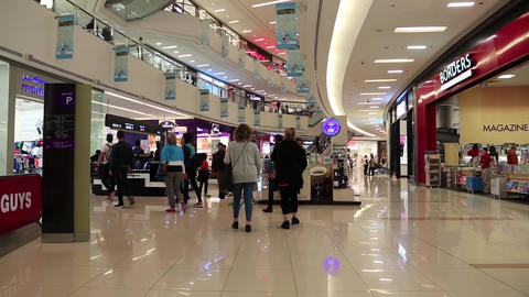 People inside Dubai Mall in United Arab Emirates Footage