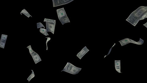 Raining Dollar Bills (Without Depth Of Field) Animation