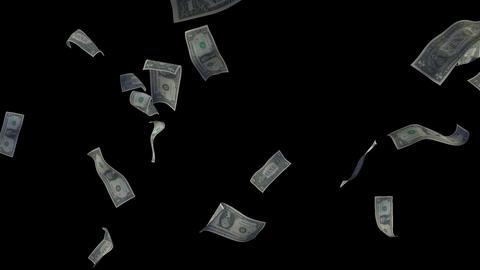 Raining Dollar Bills (Without Depth Of Field) Videos animados