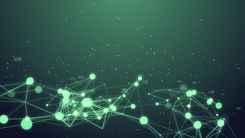 Abstract Network connection concept creative motion graphic background with Animación