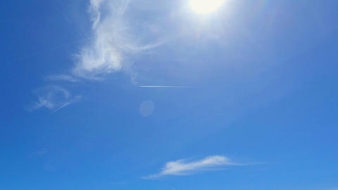 Trails of Planes in the Sky Timelapse Footage
