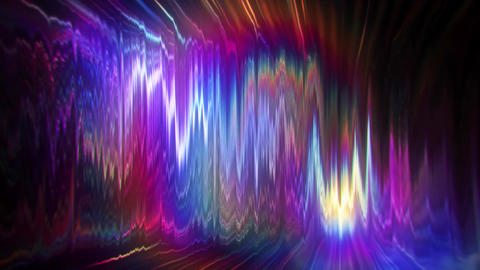 Turbulent Distortion of Colorful Light VJ Loop Background Animation