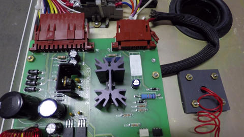 Electronic circuit board with exposed internal components Footage