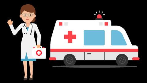 Ambulance Doctor Animation