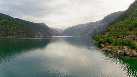 Aerial footage road in Norway. Beautiful Nature Norway Footage